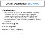 course description literature