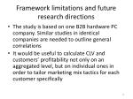 framework limitations and future research directions