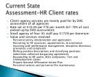 current state assessment hr client rates