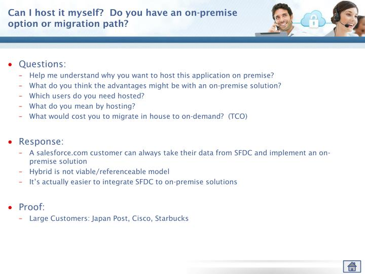 Can I host it myself?  Do you have an on-premise option or migration path?