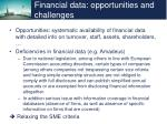 financial data opportunities and challenges