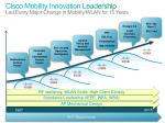 cisco mobility innovation leadership led every major change in mobility wlan for 15 years