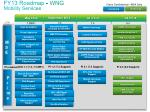 fy13 roadmap wng mobility services