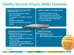 mobility services engine mse overview