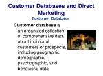 customer databases and direct marketing