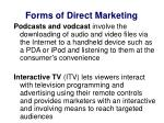 forms of direct marketing6