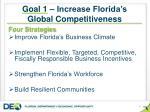 goal 1 increase florida s global competitiveness