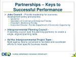 partnerships keys to successful performance