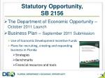 statutory opportunity sb 2156