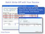 batch write off with your review