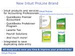 new intuit proline brand