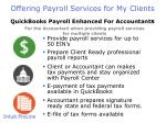 offering payroll services for my clients1