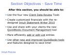 section objectives save time