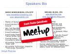 speakers bio