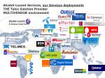 alcatel lucent services our genesys deployments the telco solution provider multivendor environment