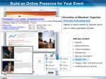 build an online presence for your event
