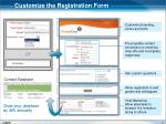 customize the registration form