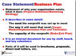 case statement business plan