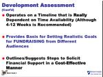 development assessment cont d1