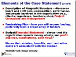 elements of the case statement cont d
