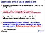 elements of the case statement