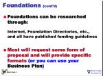foundations cont d