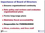 importance of board of directors