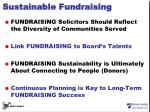 sustainable fundraising