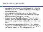 distributional properties