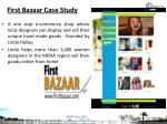 first bazaar case study