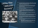 1950s the affluent society