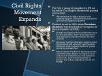 civil rights movement expands