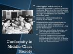 conformity in middle class society
