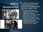 mlk is assassinated