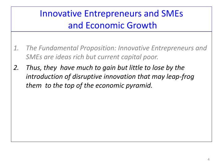 Innovative Entrepreneurs and SMEs