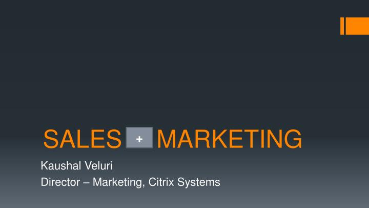 sales marketing n.
