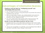 advantages of information b usiness