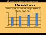 aca metal levels