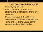 child coverage before age 26