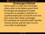 exchanges defined