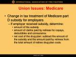 union issues medicare1
