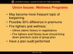 union issues wellness programs