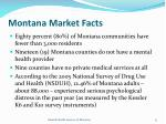 montana market facts