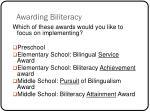 awarding biliteracy