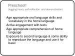 preschool logging hours self reflection and demonstration