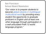 san francisco school board resolution