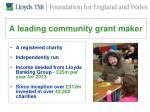 a leading community grant maker