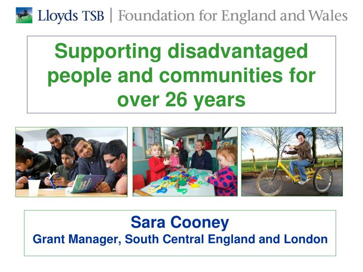 supporting disadvantaged people and communities for over 26 years n.
