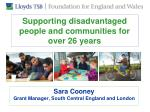 supporting disadvantaged people and communities for over 26 years
