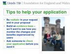 tips to help your application